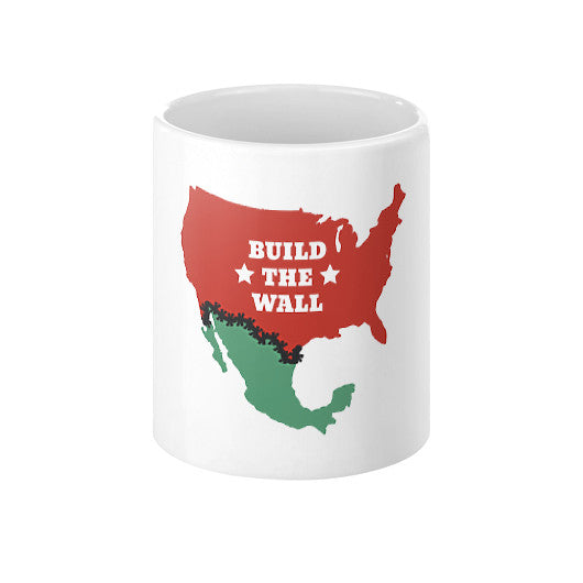 "Donald Trump for President - ""Build The Wall"" Coffee Mug - The Trump Outlet - 1"