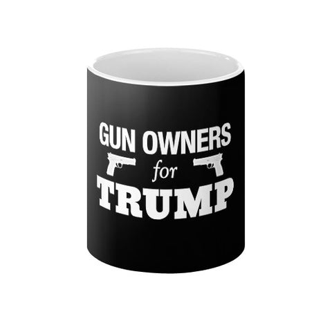 """Gun Owners for Trump"" Coffee Mug - Donald Trump for President 2016 - Gun Rights 2nd Amendment - The Trump Outlet - 1"