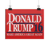 Donald Trump '16 - Make America Great Again - Rally Signs / Banners / Posters - The Trump Outlet - 1