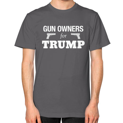 """Gun Owners for Trump"" Men's T-shirt - Donald Trump for President 2016 - Gun Rights 2nd Amendment - The Trump Outlet - 1"