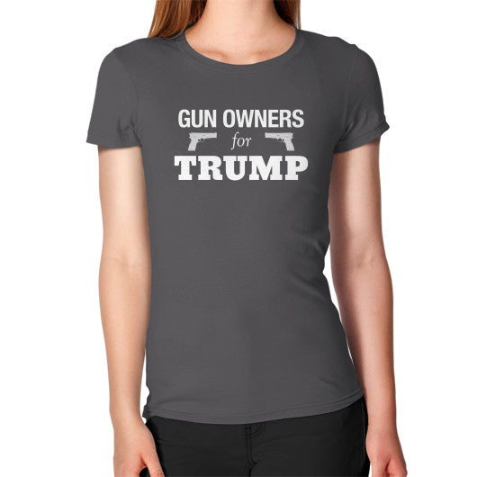 """Gun Owners for Trump"" Women's Fitted T-shirt - Donald Trump for President 2016 - Gun Rights 2nd Amendment - The Trump Outlet - 2"