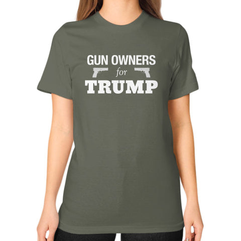 """Gun Owners for Trump"" Women's T-shirt - Donald Trump for President 2016 - Gun Rights 2nd Amendment - The Trump Outlet - 1"