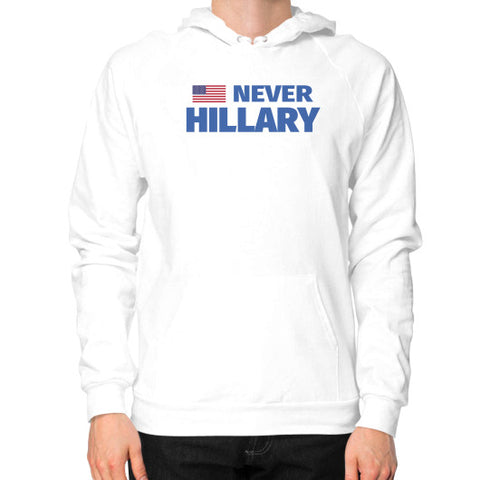 #NEVERHILLARY Anti-Hillary Clinton - Men's Hoodie / Sweatshirt - The Trump Outlet - 1