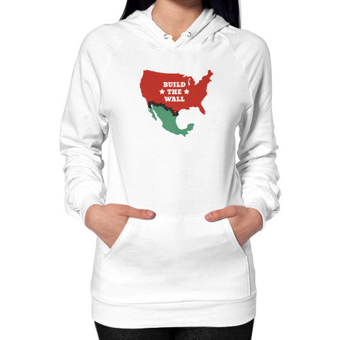 Build The Wall - Women's Hoodie / Sweatshirt - The Trump Outlet - 1