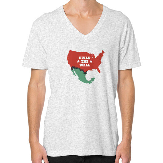 Build the Wall Men's V-Neck - The Trump Outlet - 2