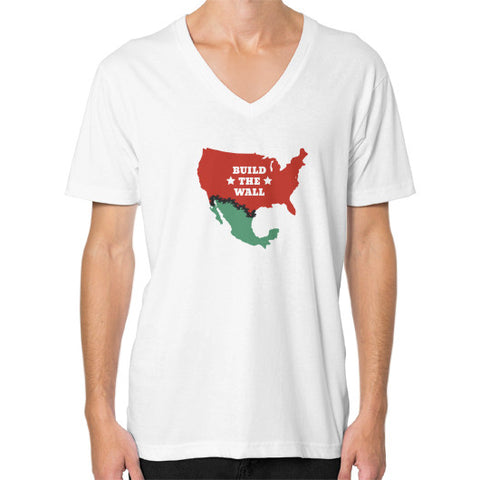 Build the Wall Men's V-Neck - The Trump Outlet - 1