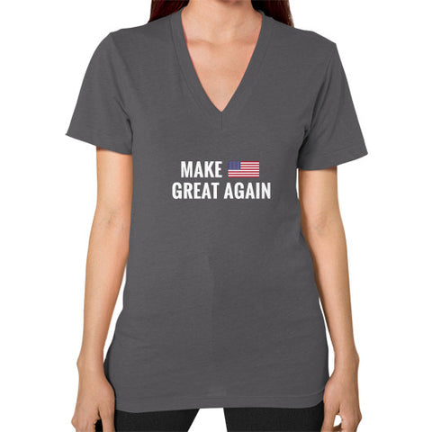 Make America Great Again Women's V-Neck - The Trump Outlet - 1