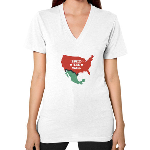 Build The Wall Women's V-Neck - The Trump Outlet - 1