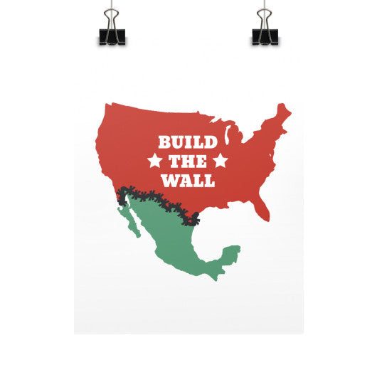 Build The Wall - Trump for President - Rally Signs / Banners / Posters - The Trump Outlet - 1