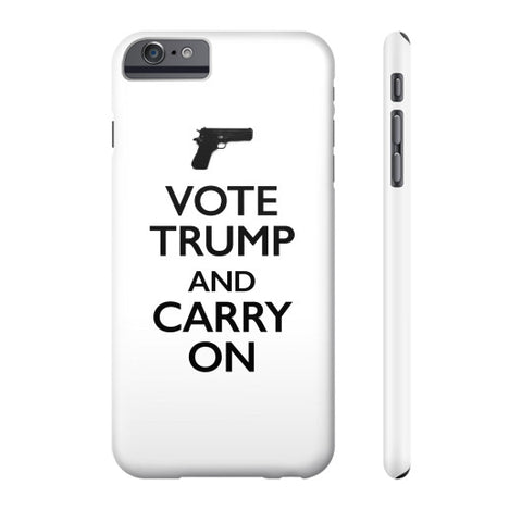 """Vote Trump and Carry On"" Phone Case - 2nd Amendment Gun Rights - Donald Trump 2016 - The Trump Outlet - 1"