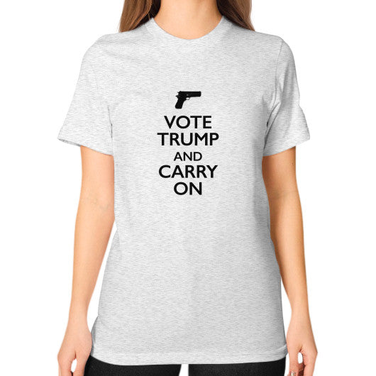 """Vote Trump and Carry On"" Women's T-Shirt - 2nd Amendment Gun Rights - Donald Trump 2016 - The Trump Outlet - 2"