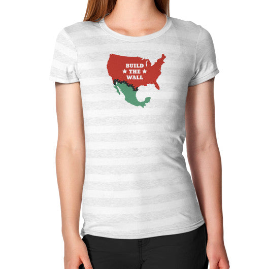 Build The Wall Women's Fitted T-Shirt - The Trump Outlet - 2