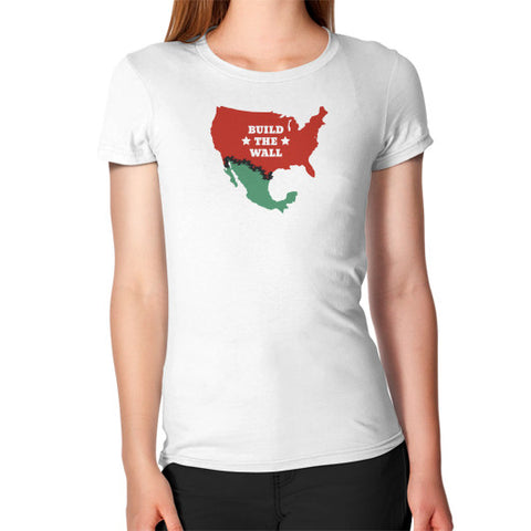Build The Wall Women's Fitted T-Shirt - The Trump Outlet - 1