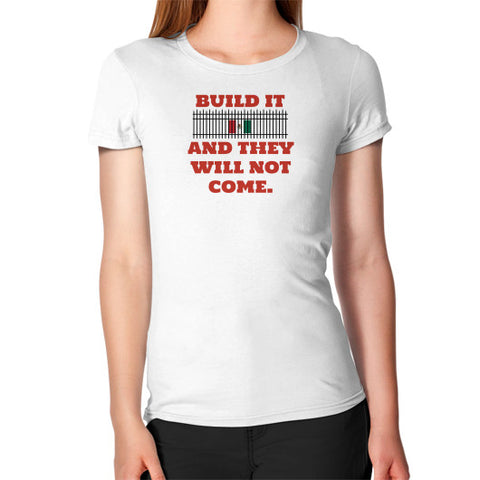 BUILD IT Women's Fitted T-Shirt - The Trump Outlet - 1