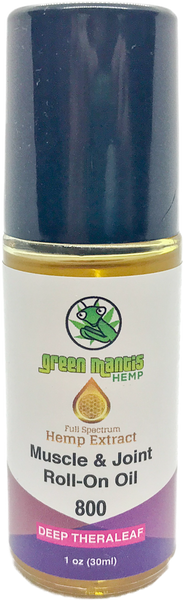 800MG Deep Theraleaf – Topical Muscle & Joint CBD Oil Roll-on bottle