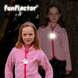 Ghost Halloween Reflector, high visibility gear for kids' jackets and halloween costumes