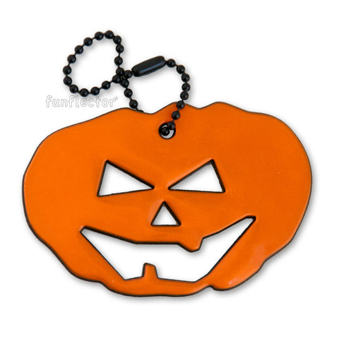 Jack O'Lantern safety reflector for Halloween by funflector®.