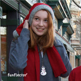 The perfect stocking stuffer for kids, teens and adults: Snowman safety reflector by funflector.