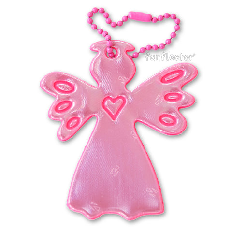 pink guardian angel safety reflector