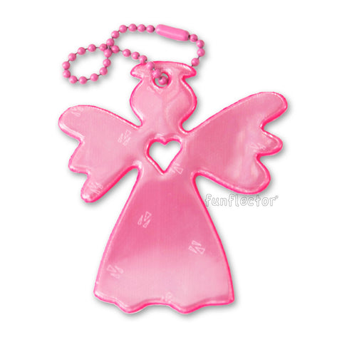Pink guardian angel safety reflector by funflector®.