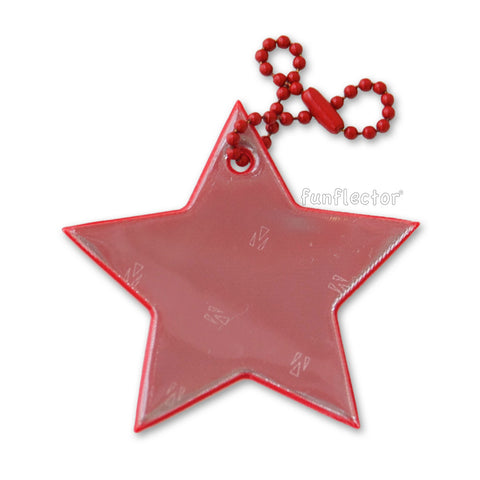 Red star safety reflector for walking, running and bicycling