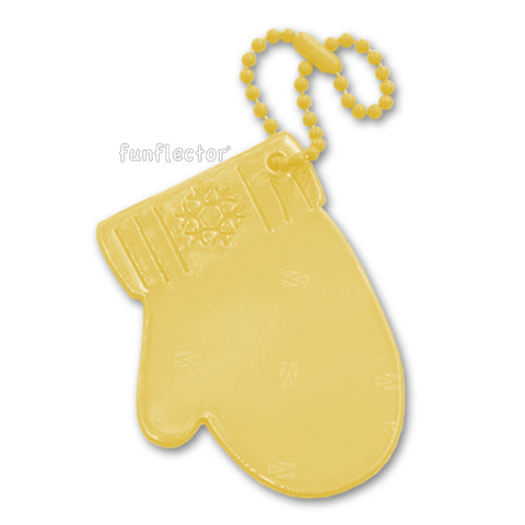 funflector safety reflector - yellow mitten