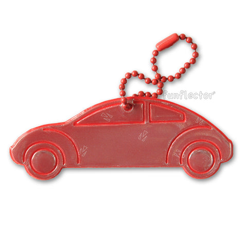 Red car safety reflector made in the USA by funflector®.