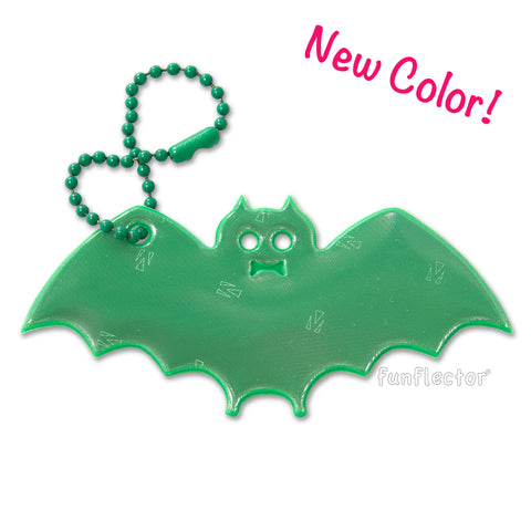 Green Bat key chain safety reflector by funflector