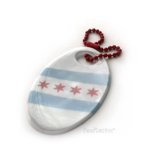 Chicago flag safety reflector for walking, running and bicycling