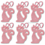 6-pack pink cat safety reflector for walking and marching. supporting Planned Parenthood.