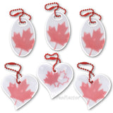 Support the resist movement with Canadian maple leaf safety reflectors