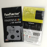 Particle Zoo Dark Matter safety reflector with packaging
