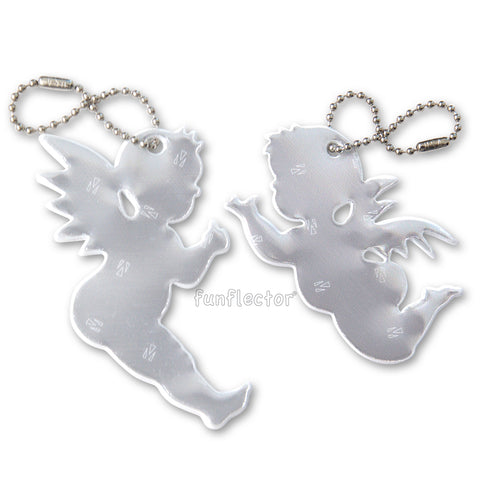 Linzer Engerl, austrian guardian angel safety reflectors for clothing, backpacks, bags and purses.