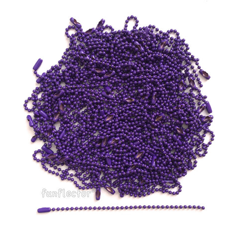 100-pack - Purple - 4.5 inch ball chains - funflector1