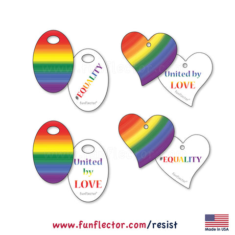 Pride rainbow safety reflectors supports LGBTQ rights