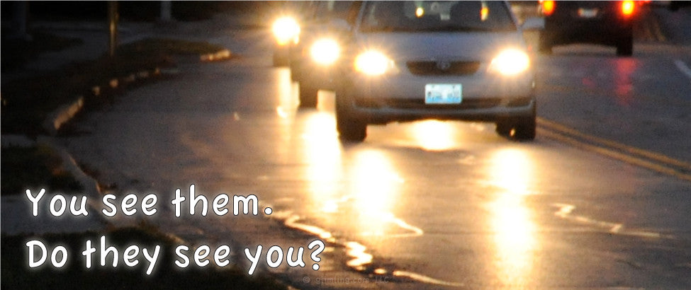 You see them. Do they see you? Safety reflectors save lives!
