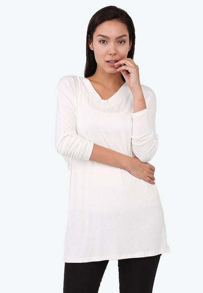 White Batwing Top