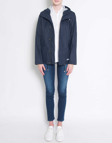 Navy Stenhamra Raglan Raincoat