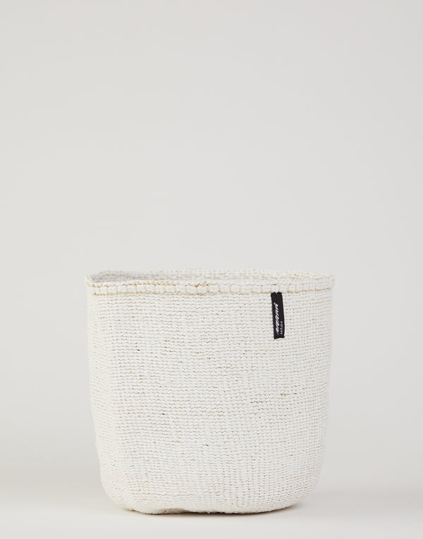 Medium White Kiondo Basket
