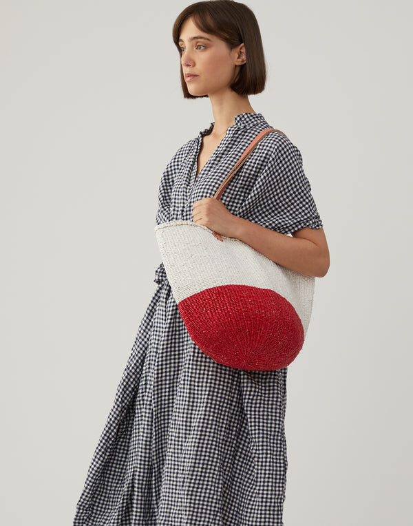 Red & White Kiondo Bag