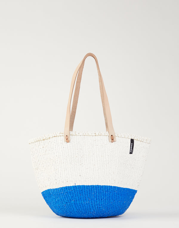 Blue & White Kiondo Bag