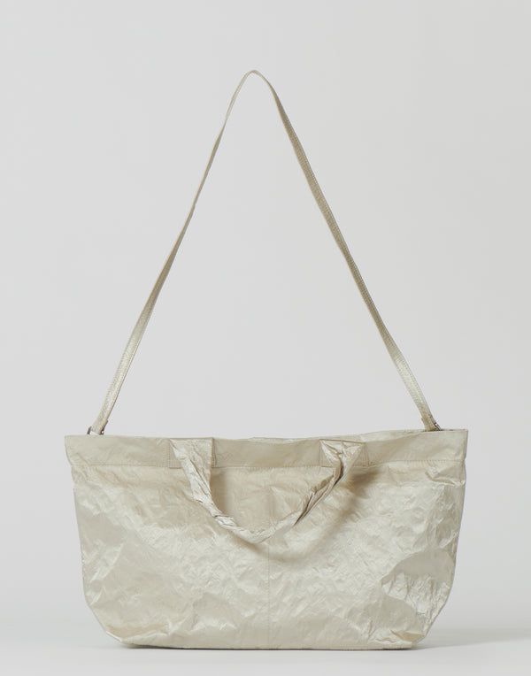 Large Sand Satin Shopper