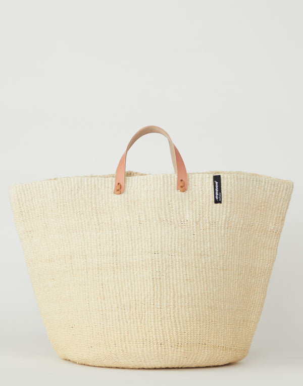Large Natural Basket Tote