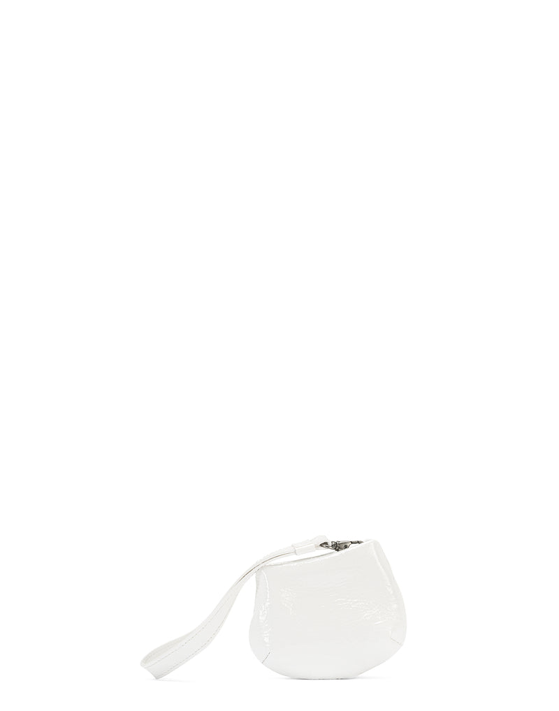 White Leather Mini Fanta Bag