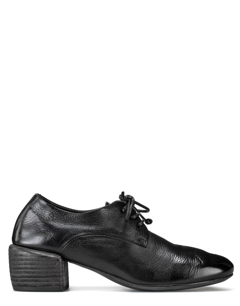 Black Leather Tondello Derby