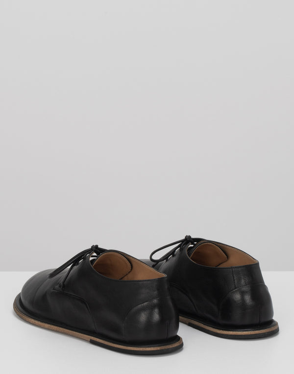 Black Leather Guardella Derby Lace-Ups