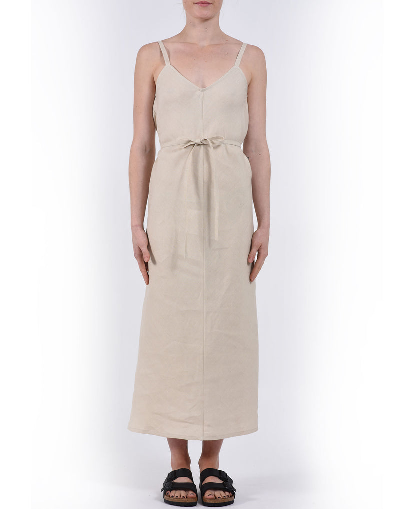 Natural Elem Linen Slip Dress