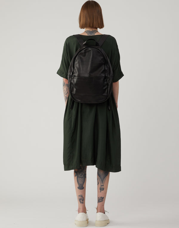 Black Ultra Soft Leather Backpack