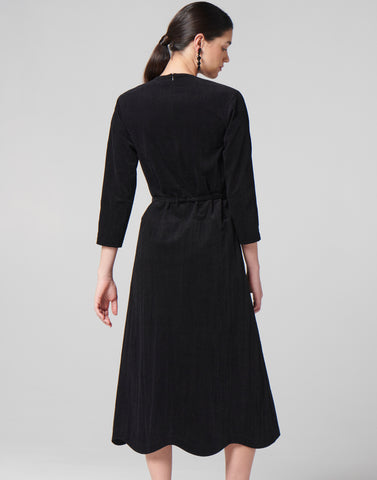 Black Drop Frill Dress