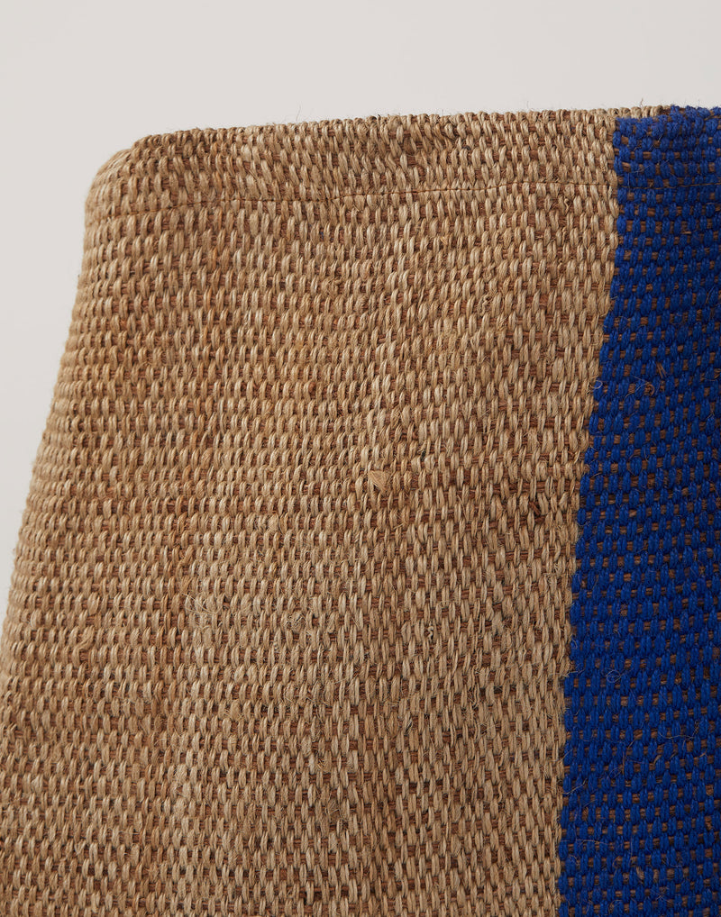 Large Blue Stripe Jute Poresh Shopper Bag